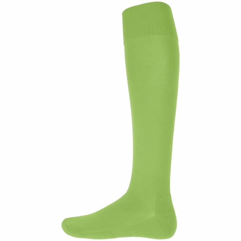 Lime groene hoge sportsokken voor volwassenen