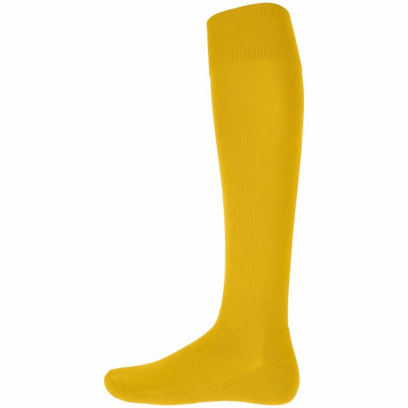 Gele hoge sportsokken voor volwassenen