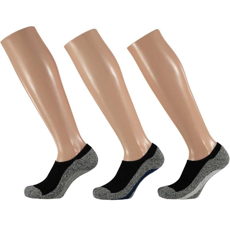 Lage sportsokken met siliconenhak voor dames 3 paar